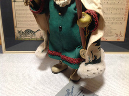 Fabriche Santa Claus Figurine Green with Bag Clothique Collectible image 9