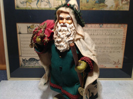 Fabriche Santa Claus Figurine Green with Bag Clothique Collectible image 8