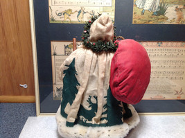 Fabriche Santa Claus Figurine Green with Bag Clothique Collectible image 4