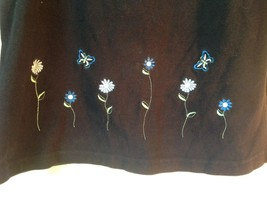 Fashion Bug Size XL Tank Top Black with Flowers and Butterflies image 2