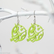Fashion earrings filigree Green Flying Witches  Flourish image 2