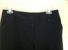 George Stretch Boys Black Pinstriped Dress Pants Front Pockets Size 10 Average image 6