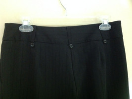 George Stretch Boys Black Pinstriped Dress Pants Front Pockets Size 10 Average image 9