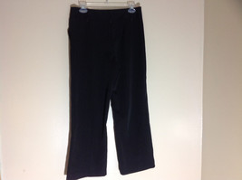 George Stretch Boys Black Pinstriped Dress Pants Front Pockets Size 10 Average image 10