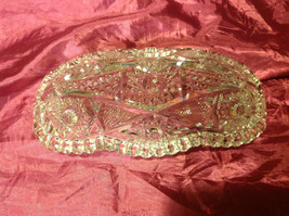 """Glass Candy Dish 9"""" likely American Brilliant cut crystal early period image 2"""
