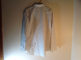 Geoffrey Beene White Long Sleeved Button Up Wrinkle Free Dress Shirt Size 17.5 image 4