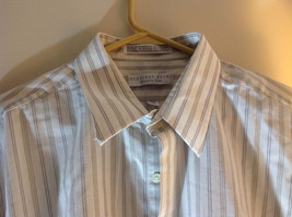 Geoffrey Beene White Long Sleeved Button Up Wrinkle Free Dress Shirt Size 17.5 image 3