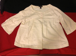 Girls Cream Color Three Quarter Length Sleeves 3 Heart Button Closure Size Large image 5