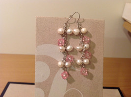 Fashion natural river pearls drop dangling earrings, 3 different choices image 7