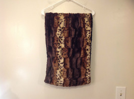 Faux Fur Infinity Scarf Reversible Leopard Print Black 100 Percent Polyester image 4