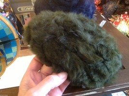 Felted wool medallion French style cap in choice of colors navy or olive Ophelie image 3