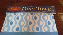 Fiddlers Elbow Dish Towel Light Blue 100 Percent Cotton Made in USA image 3