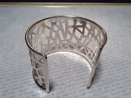 Filigree  Pattern Handcrafted Silver Plated Cuff Bracelet 925 Sterling Silver image 5