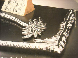 Godinger Silver Plated Palm Tree Design Marble Cheeseboard with Cheese Knife image 5