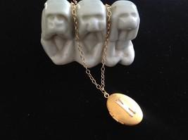 Gold Locket w Initial Monogram Riveted Necklace Adjustable Zina Kao Choice image 4