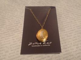 Gold Locket w Initial Monogram Riveted Necklace Adjustable Zina Kao Choice image 12