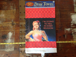 Going to Hell in Every Religion  Dish Towel by Fiddlers Elbow image 2