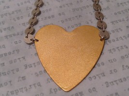 Gold engraved sugar skull heart hand made chain Necklace Zina Kao Day of Dead image 5