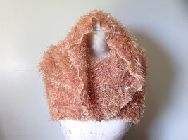 Golden Magic Fuzzy Circle Scarf Can Be Worn Multiple Ways NO TAGS image 3