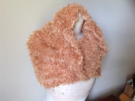Golden Magic Fuzzy Circle Scarf Can Be Worn Multiple Ways NO TAGS image 4