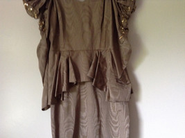 Golden Brown Vintage Dress Beautiful Gown by Chemisier Valerie Porr Size 12 image 3