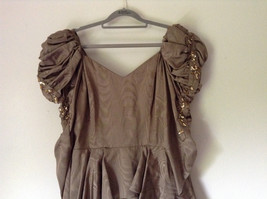 Golden Brown Vintage Dress Beautiful Gown by Chemisier Valerie Porr Size 12 image 2