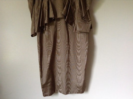 Golden Brown Vintage Dress Beautiful Gown by Chemisier Valerie Porr Size 12 image 4