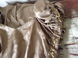 Golden Brown Vintage Dress Beautiful Gown by Chemisier Valerie Porr Size 12 image 9