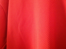 First Star Size Small Red Long Sleeve V Neck Athletic Shirt image 2