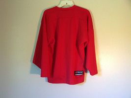 First Star Size Small Red Long Sleeve V Neck Athletic Shirt image 4