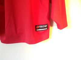 First Star Size Small Red Long Sleeve V Neck Athletic Shirt image 5