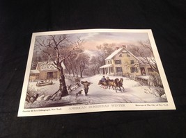 Five Lithographs Currier & Ives 19th Century Images image 5