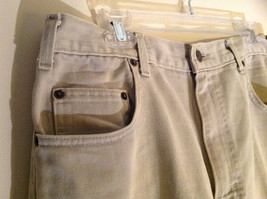 Five Pocket Arizona Khaki Jeans Zipper Button Closure Classic Fit Size 34 by 30 image 5