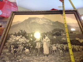 Gorgeous antique preserved alpine image mountains goats framed tapestry image 2