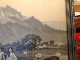 Gorgeous antique preserved alpine image mountains goats framed tapestry image 6