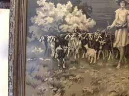 Gorgeous antique preserved alpine image mountains goats framed tapestry image 8