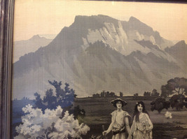 Gorgeous antique preserved alpine image mountains goats framed tapestry image 5