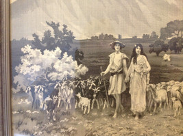 Gorgeous antique preserved alpine image mountains goats framed tapestry image 9