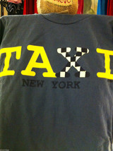 Gray T shirt size L New York Taxi image 3