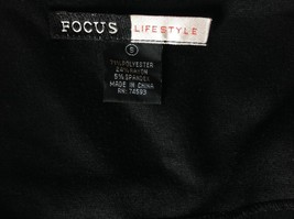 Focus Lifestyle Black Long Skirt Size Small Side Zipper Closure image 4