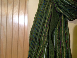 Forest Green Tasseled Fashion Scarf Light Weight Material NO TAGS image 6