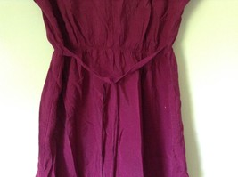 Forever 21 Dark Raspberry Color Dress with White Accent Size Small Loose Fit image 8