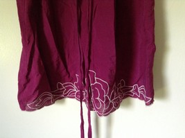 Forever 21 Dark Raspberry Color Dress with White Accent Size Small Loose Fit image 9
