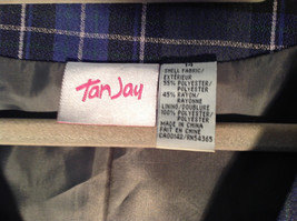 Formal 2 Fake Pockets by Tan Jay Blue Purple Black Square Pattern Vest Size 14 image 2