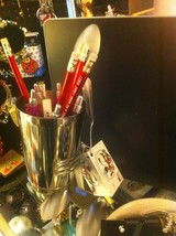 Forked Up Art pencil or pen cup holder spoon man USA made 4 person w everything image 3