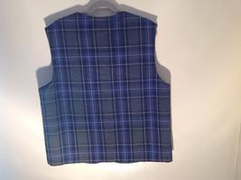 Formal 2 Fake Pockets by Tan Jay Blue Purple Black Square Pattern Vest Size 14 image 6