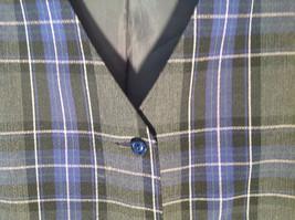 Formal 2 Fake Pockets by Tan Jay Blue Purple Black Square Pattern Vest Size 14 image 5