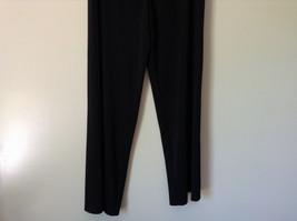 Forenza Black Stretchy Waisted Dress Pants 100 Percent Polyester Size Large image 3