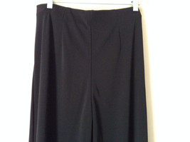 Forenza Black Stretchy Waisted Dress Pants 100 Percent Polyester Size Large image 5