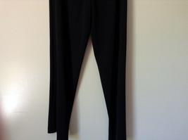 Forenza Black Stretchy Waisted Dress Pants 100 Percent Polyester Size Large image 6